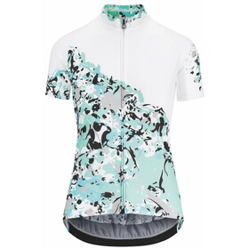 assos Wild - Maillot manches courtes Femme - blanc/turquoise